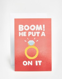 Свадебная открытка Jolly Awesome Boom - Мульти
