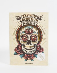Книга Tattoo Colour-In Postcards - Мульти Books