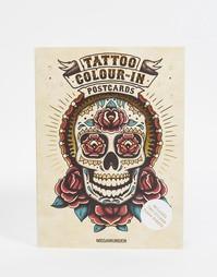 Книга Tattoo Colour-In Postcards - Мульти Books