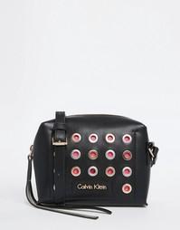 Сумка через плечо в стиле 90‑х с заклепками Calvin Klein - Черный