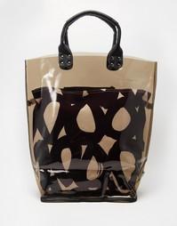 Пляжная сумка-тоут со съемным внутренним карманом Echo - Черный