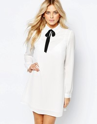 Платье-рубашка с завязкой у воротника Fashion Union