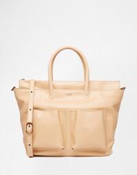 Большая сумка-тоут с карманами Matt & Nat - Nature