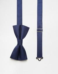Однотонный галстук‑бабочка Noose & Monkey - Синий