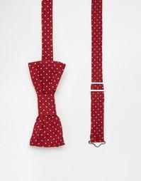 Бордовый галстук‑бабочка в горошек Reclaimed Vintage - Burgundy