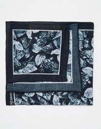 Хлопковый платок для нагрудного кармана с принтом Noose & Monkey