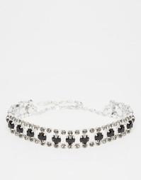 Каскадное ожерелье-чокер с кристаллами Swarovski от Krystal