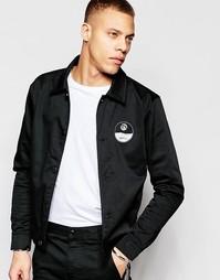 Тренерская куртка из хлопковой саржи ADPT Co-ord - Черный