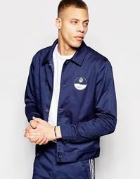 Тренерская куртка из хлопковой саржи ADPT Co-ord - Темно-синий