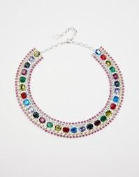 Эффектное ожерелье с кристаллами Swarovski Krystal - Мульти