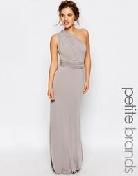 Платье-трансформер макси с годе TFNC Petite WEDDING - Серый