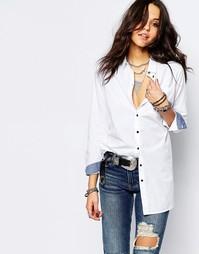 Рубашка бойфренда Noisy May - Белый