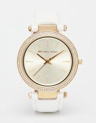 Часы с кожаным ремешком Michael Kors Darci MK2391 - Белый