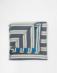 Платок в полоску для нагрудного кармана Selected Homme - Синий