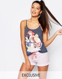 Пижамный комплект с шортами и диснеевским принтом Missimo Disney 99% P