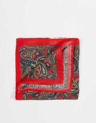 Платок для нагрудного кармана с принтом пейсли Selected Homme