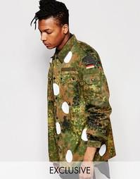 Куртка камуфляжной расцветки в крупный горошек Reclaimed Vintage