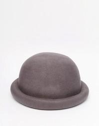 Темно-серая фетровая шляпа-котелок ASOS - Угольный