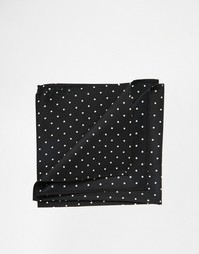 Платок для нагрудного кармана в горошек ASOS - Черный