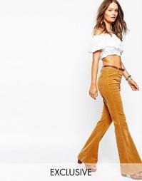 Вельветовые расклешенные джинсы Glamorous - Рыжий