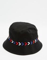Панама с вышивкой в стиле колор блок ASOS - Черный