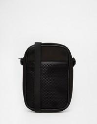 Черная сумка через плечо с сетчатым карманом спереди ASOS - Черный