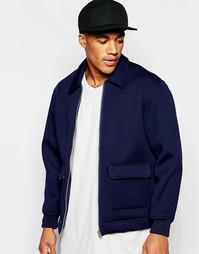 Синяя спортивная куртка с накладными карманами ASOS - Темно-синий
