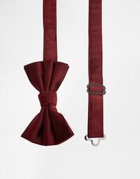 Шелковый галстук-бабочка ASOS - Burgundy