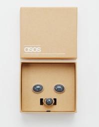 Подарочный набор с кольцом и запонками ASOS - Серебряный