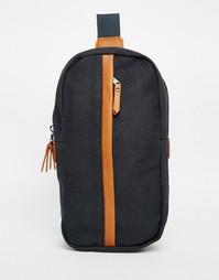 Темно-синяя парусиновая сумка через плечо с контрастной отделкой ASOS