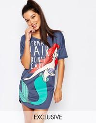 Ночная рубашка с диснеевской русалкой Missimo - Серый