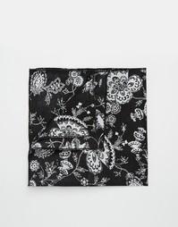 Черный платок-паше с цветочным принтом Reclaimed Vintage - Черный