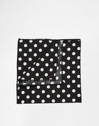 Платок для нагрудного кармана в горошек Reclaimed Vintage - Черный