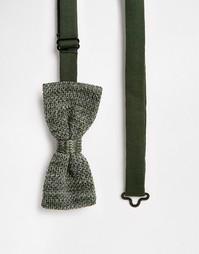 Трикотажный галстук-бабочка Selected Homme - Зеленый