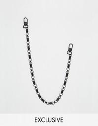 Черная цепочка на джинсы с черепами Chained & Able Ghost - Черный