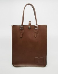 Шоппер-тоут The Leather Satchel Company - Milk chocolate