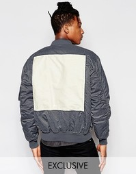 Куртка-пилот с эффектом кислотной стирки Reclaimed Vintage MA1 - Синий