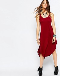 Платье миди Free People Back in Town - Burgundy