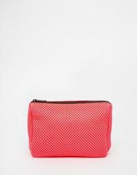 Сетчатая неоновая косметичка ASOS - Розовый