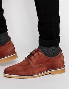 Замшевые туфли Jack & Jones Gobi - Коричневый