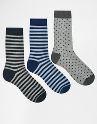 Комплект из 3 пар носков Selected Homme - Мульти
