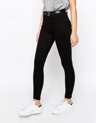 Укороченные джинсы скинни Boohoo - Черный