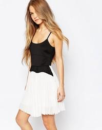 Платье с плиссированной юбкой Jovonna Vesta - Белый