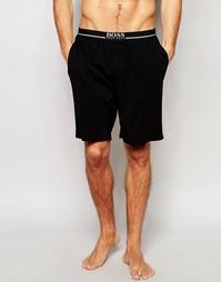 Классические шорты для дома с контрастным поясом Hugo Boss - Черный