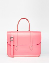 Сумка-тоут The Leather Satchel Company - Baby pink