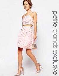 Пышная фактурная юбка миди для выпускного в горошек True Decadence Pet