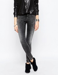 Черные джинсы суперслим с выбеленным эффектом Noisy May Lucy - Dgd 32