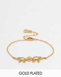 Браслет с подвеской-слоном Bill Skinner - Золотой