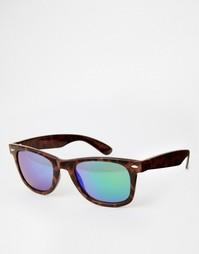 Квадратные очки в черепаховой оправе с прозрачными стеклами AJ Morgan