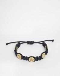 Плетеный браслет с пулями Lovebullets - Черный